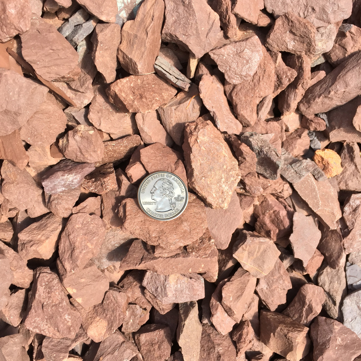 2B 3/4″ Clean Crushed Rustic Red Stone